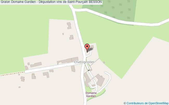 plan Domaine Gardien - Dégustation Vins De Saint-pourçain Besson