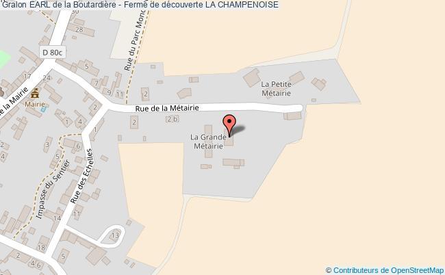 plan Earl De La Boutardière - Ferme De Découverte La Champenoise