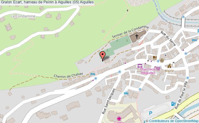 plan Ecart, Hameau De Peinin à Aiguilles (05) Aiguilles