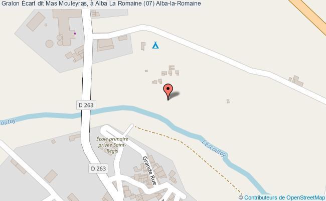 plan Écart Dit Mas Mouleyras, à Alba La Romaine (07) Alba-la-romaine
