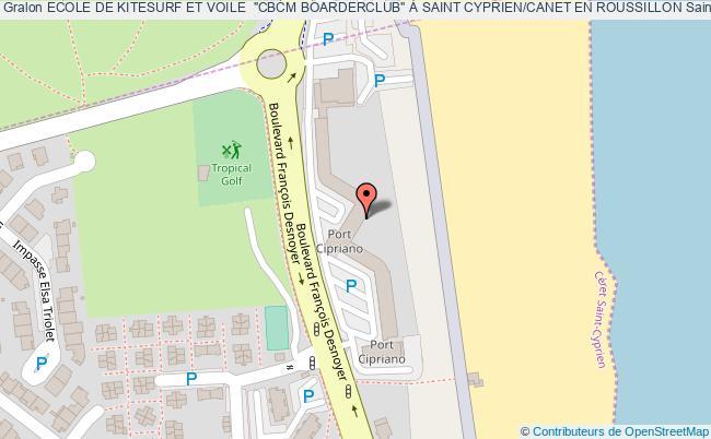 """plan association Ecole De Kitesurf Et Voile  """"cbcm Boarderclub"""" À Saint Cyprien/canet En Roussillon Saint-cyprien Saint-cyprien"""