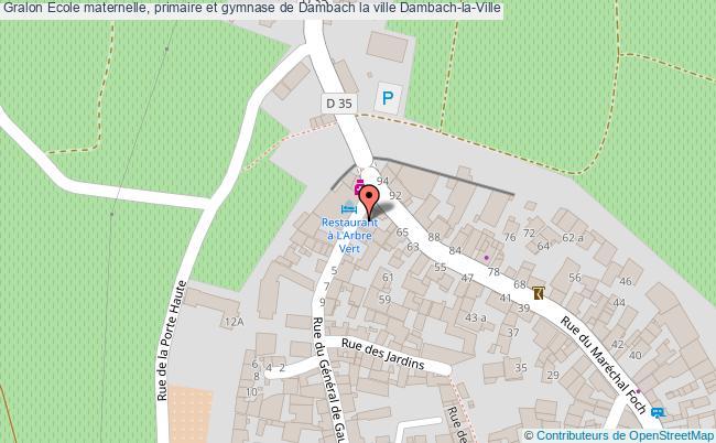 plan Ecole Maternelle, Primaire Et Gymnase De Dambach La Ville Dambach-la-ville
