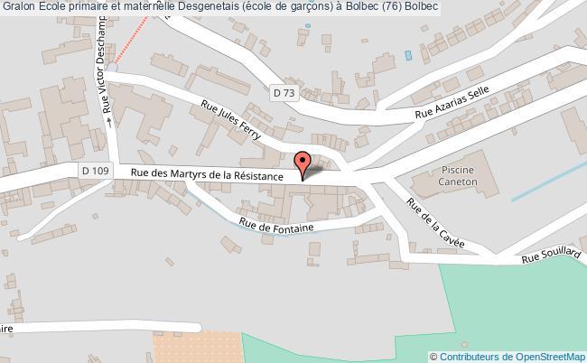 plan association Ecole Primaire Et Maternelle Desgenetais (école De Garçons) à Bolbec (76) Bolbec Bolbec
