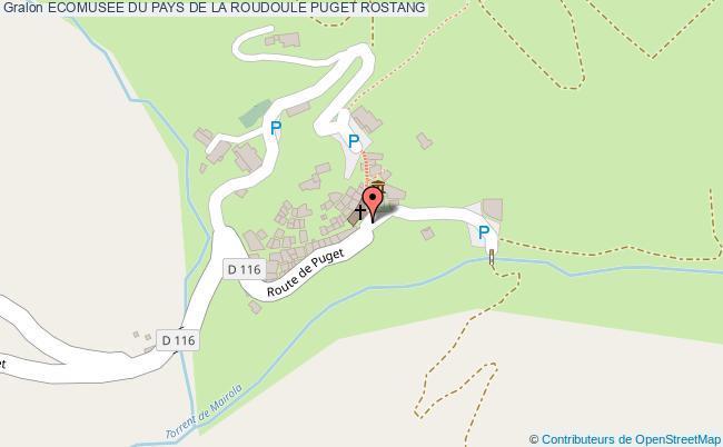 plan Ecomusee Du Pays De La Roudoule Puget Rostang
