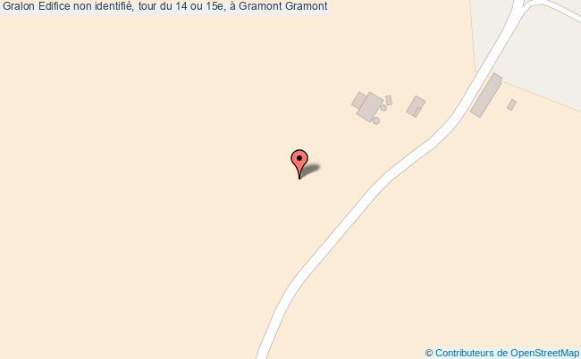 plan Edifice Non Identifié, Tour Du 14 Ou 15e, à Gramont Gramont