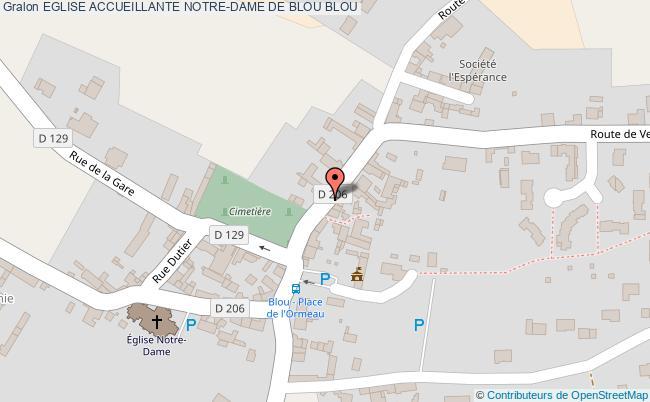 plan association Eglise Accueillante Notre-dame De Blou Blou BLOU