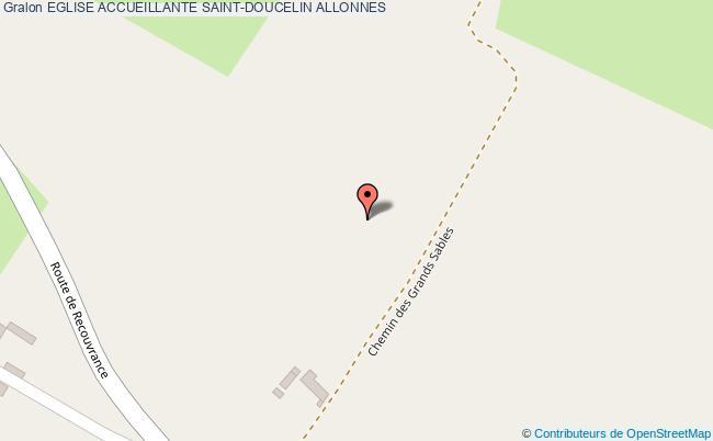 plan association Eglise Accueillante Saint-doucelin Allonnes ALLONNES
