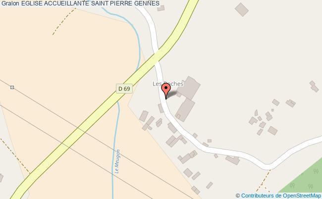 plan association Eglise Accueillante Saint Pierre Gennes GENNES