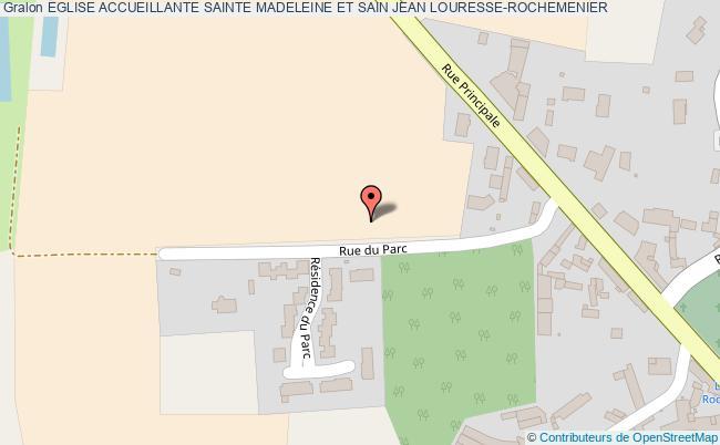 plan association Eglise Accueillante Sainte Madeleine Et Sain Jean Louresse-rochemenier LOURESSE-ROCHEMENIER
