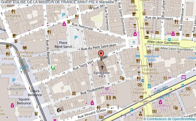 plan Eglise De La Mission De France Saint Pie X Marseille