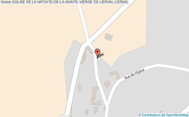 plan Eglise De La Nativite-de-la-sainte-vierge De Lierval Lierval