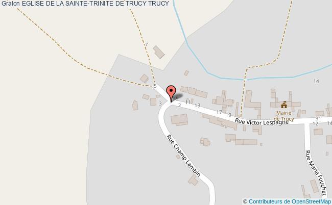 plan Eglise De La Sainte-trinite De Trucy Trucy