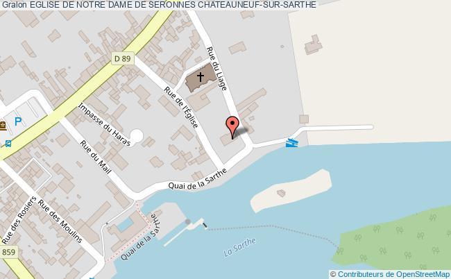 plan Eglise De Notre Dame De Seronnes Chateauneuf-sur-sarthe