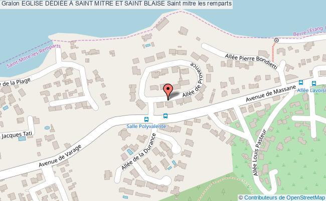 plan Eglise DÉdiÉe À Saint Mitre Et Saint Blaise Saint Mitre Les Remparts