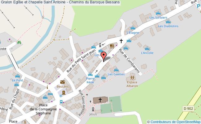plan association Eglise Et Chapelle Saint Antoine - Chemins Du Baroque Bessans Bessans