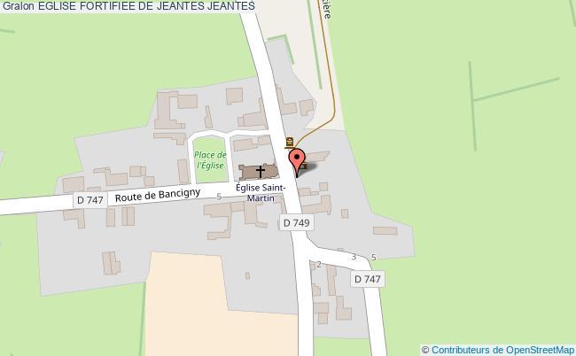 plan association Eglise Fortifiee De Jeantes Jeantes JEANTES
