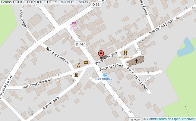 plan Eglise Fortifiee De Plomion Plomion