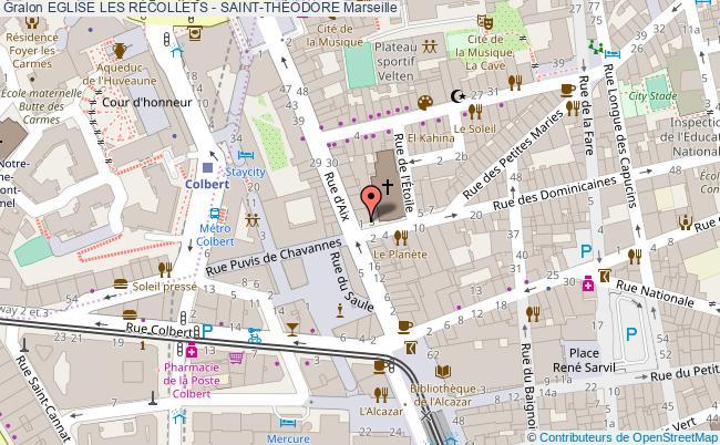 plan Eglise Les RÉcollets - Saint-thÉodore Marseille