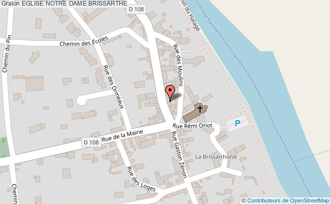 plan Eglise Notre Dame Brissarthe