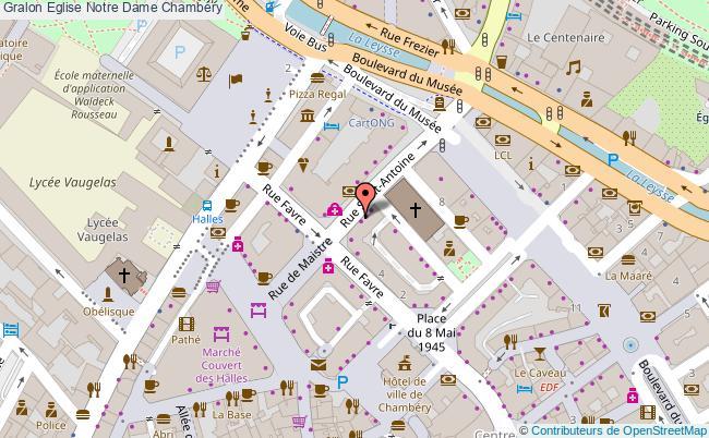 plan association Eglise Notre Dame Chambéry Chambéry