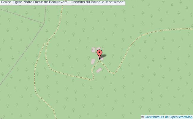 plan association Eglise Notre Dame De Beaurevers - Chemins Du Baroque Montaimont Montaimont