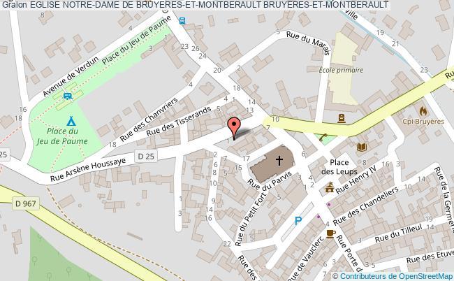 plan Eglise Notre-dame De Bruyeres-et-montberault Bruyeres-et-montberault