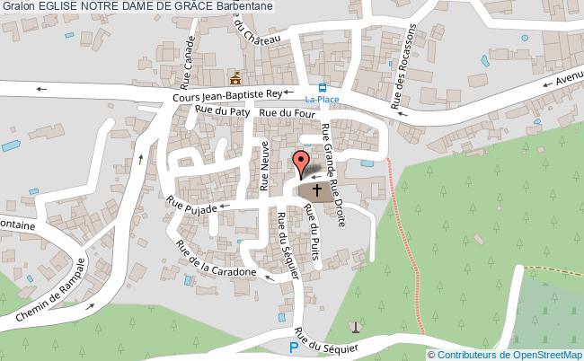 plan Eglise Notre Dame De GrÂce Barbentane
