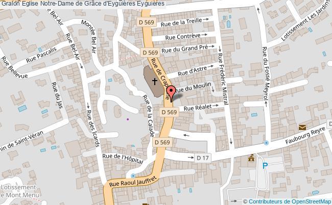 plan Eglise Notre-dame De Grâce D'eyguières Eyguières