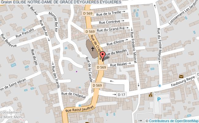 plan Eglise Notre-dame De GrÂce D'eyguiÈres Eyguieres