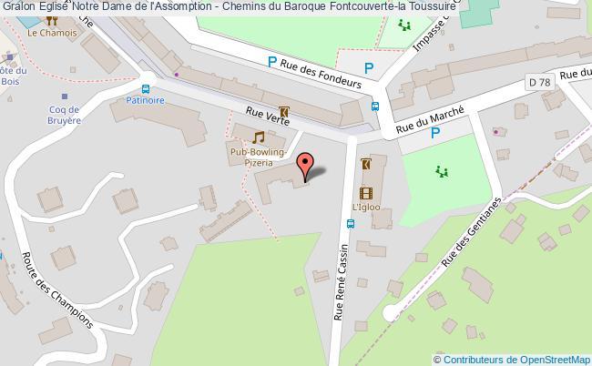 plan Eglise Notre Dame De L'assomption - Chemins Du Baroque Fontcouverte-la Toussuire
