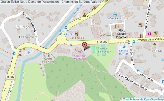 plan association Eglise Notre Dame De L'assomption - Chemins Du Baroque Valloire Valloire