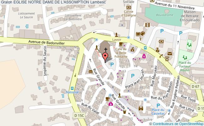 plan Eglise Notre Dame De L'assomption Lambesc