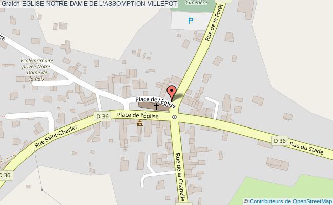 plan association Eglise Notre Dame De L'assomption Villepot VILLEPOT