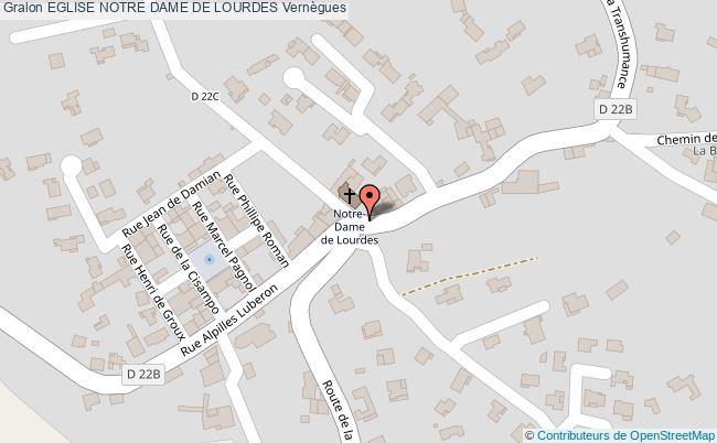 plan Eglise Notre Dame De Lourdes Vernègues