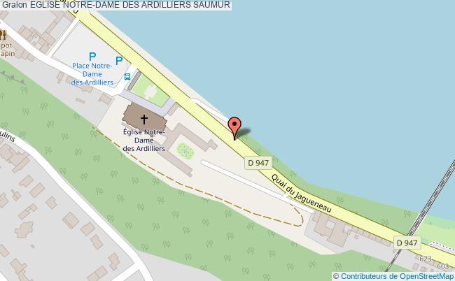 plan association Eglise Notre-dame Des Ardilliers Saumur SAUMUR