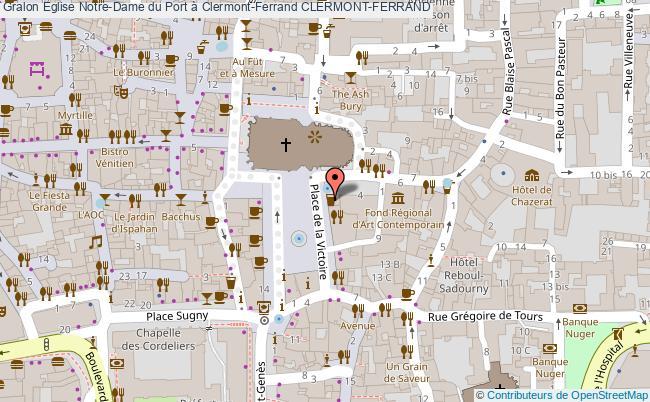 plan Eglise Notre-dame Du Port à Clermont-ferrand Clermont-ferrand