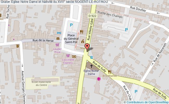 plan Eglise Notre Dame Et Nativité Du Xvii° Siècle Nogent-le-rotrou