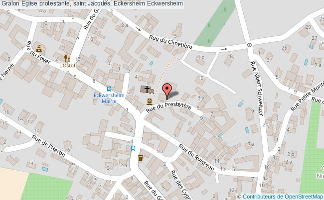 plan Eglise Protestante, Saint Jacques, Eckersheim Eckwersheim