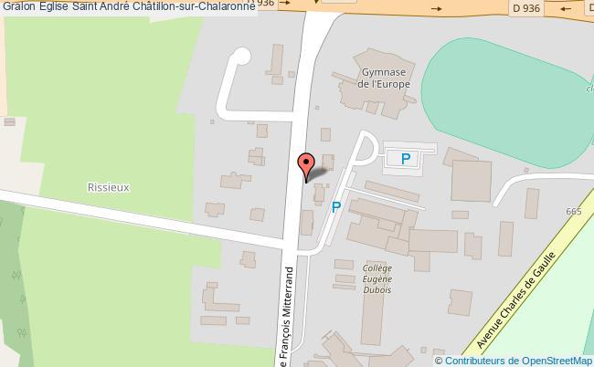 plan Eglise Saint André Châtillon-sur-chalaronne