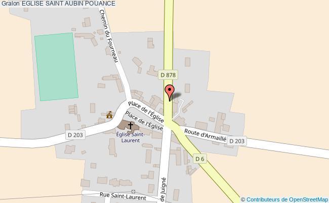 plan association Eglise Saint Aubin Pouance POUANCE