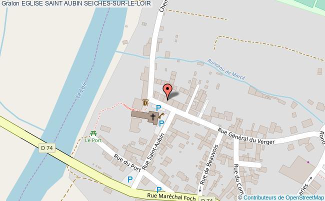 plan Eglise Saint Aubin Seiches-sur-le-loir