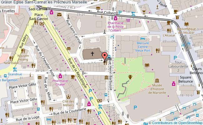 plan Eglise Saint-cannat Les Prêcheurs Marseille