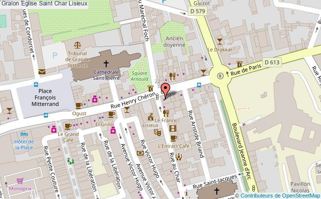 plan association Eglise Saint Char Lisieux Lisieux
