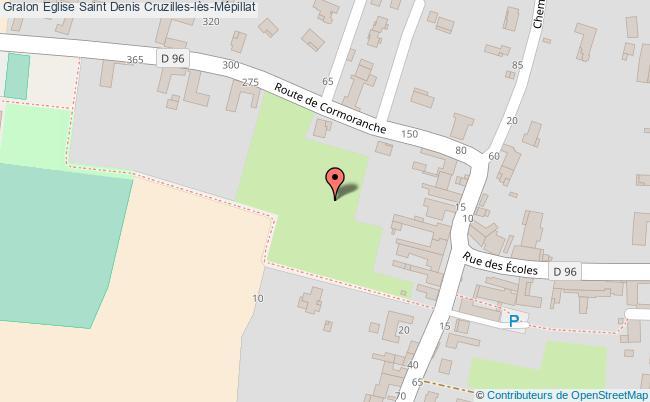 plan Eglise Saint Denis Cruzilles-lès-mépillat