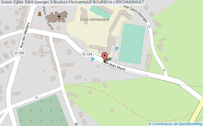 plan Eglise Saint-georges à Bourbon-l'archambault Bourbon-l'archambault