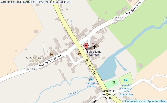 plan Eglise Saint Germain Le Guedeniau