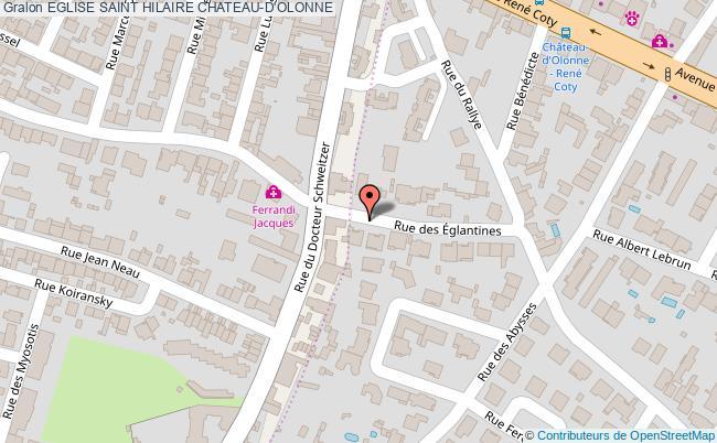 plan association Eglise Saint Hilaire Chateau-d'olonne CHATEAU-D'OLONNE