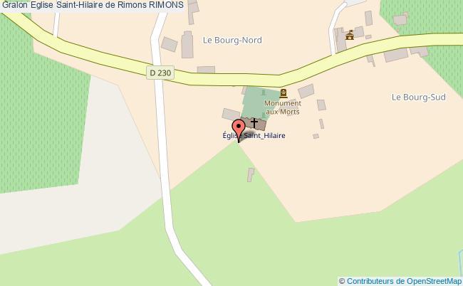 plan Eglise Saint-hilaire De Rimons Rimons