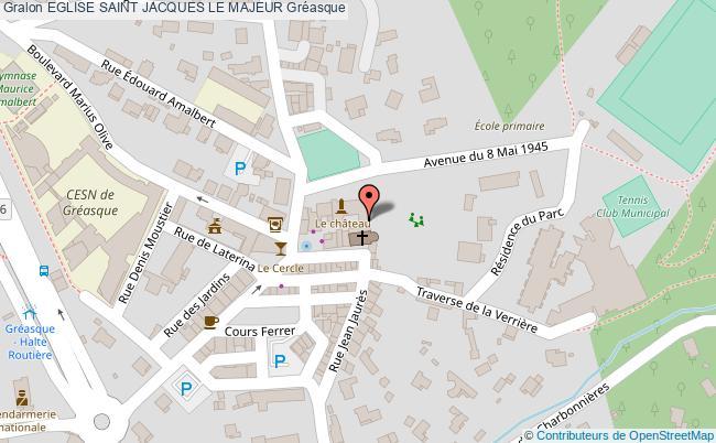 plan Eglise Saint Jacques Le Majeur Gréasque
