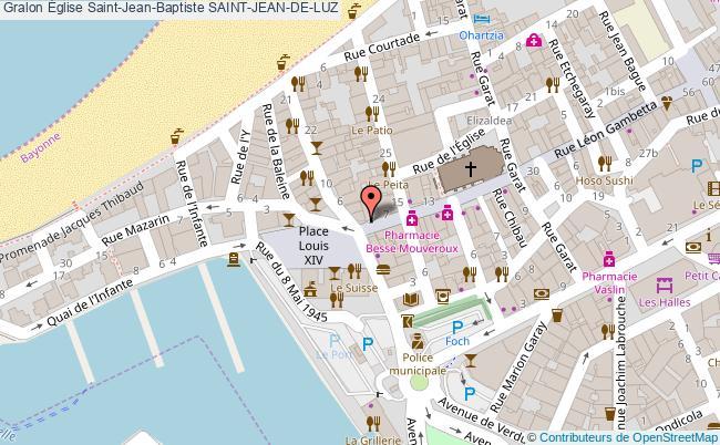 plan association Église Saint-jean-baptiste Saint-jean-de-luz SAINT-JEAN-DE-LUZ